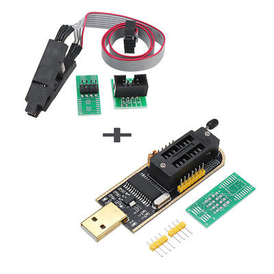 EEPROM Flash BIOS USB Programmer CH341A 24 25 Serie + SOIC8 Clip On-Board Kit
