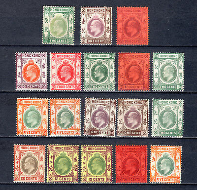 Hong Kong British China Kevii Definitives Selection Of Mh Stamps M/m  L1
