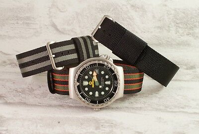 The James Bond 007 watch strap collection RAF type nylon pull through