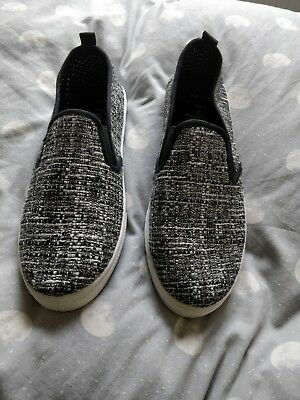 Grey slip on shoes woman's size 9
