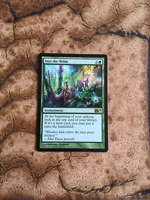 MTG Into The Wilds rare green enchantment card, NM near mint condition