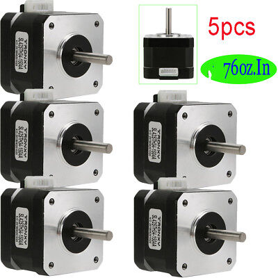 5X NEMA 17 Stepper Motor x Mill Robot Rep Makerbot Prusa 3D Printer Heatsink GD