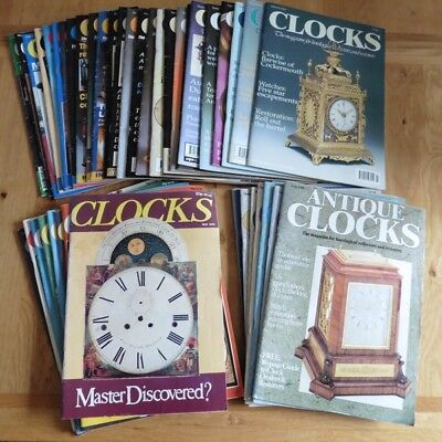 Collection Of 34 Clocks Magazines And 8 Antique Clocks Magazines - 1979 To 2008