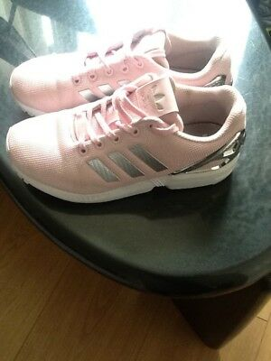 80948cee1b07c discount code for womens pink adidas zx flux trainers size 4 uk baby pink  ladies or