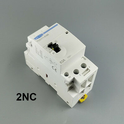 TOCT1 63A 2NC 220V Din rail Household ac contactor With Manual Control Switch