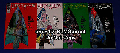 1990 Green Arrow 35 36 37 38 Full The Black Arrow Story Arc 35 38 DC