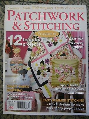 Patchwork & Stitching Magazine V 12 N 10 Stash Summer Cushion Doll 3D flower bag