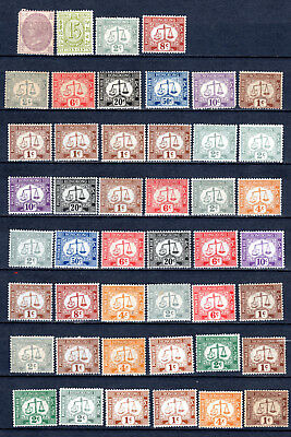 Hong Kong China Selection Of Postage Due & Revenue Mh Stamps Mounted Mint