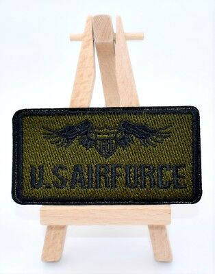 Ecusson brodé blason US AirForce patch thermocollant, 8,6 cM embroidered patch