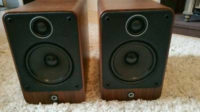 Q Acoustics 2020 speakers in walnut