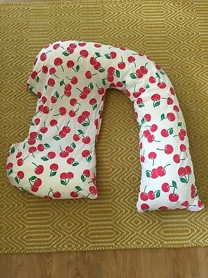Dreamgenii Pregnancy Pillow - Limited Edition Cherry Design - RRP £47