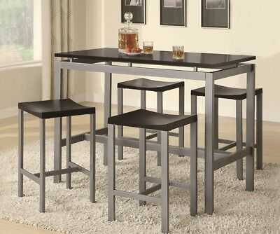 Miraculous Bar Table 4 Stools Chairs Kitchen Breakfast Dining Living Lamtechconsult Wood Chair Design Ideas Lamtechconsultcom