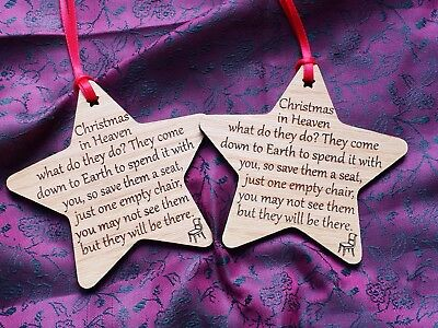 Christmas tree decoration in memory of loved one's passed