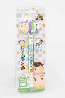 Disney Tsum Tsum School Pen with Pull-Back Toy Cars Toy Story Buzz Lightyear