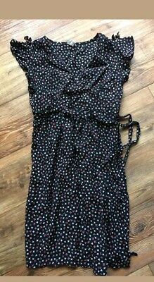 ex TOPSHOP Maternity Dress Strappy RED BLACK size 8-16 RRP 29.00 !!!