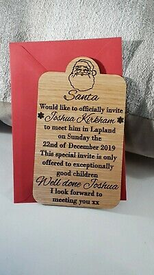 Personalised invitations to see Santa in Lapland