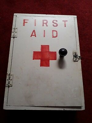 First Aid Vintage Cupbard Painted Shelf Large