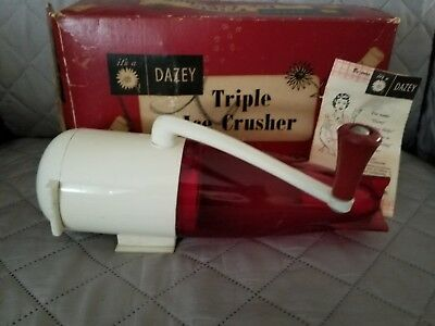 Vintage Dazey Rocket Ship Ice Crusher Red Base Model 160 Retro Barware 1950s