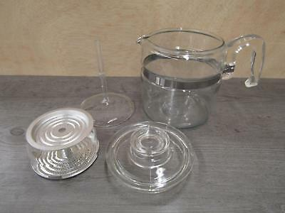 Pyrex Glass Percolator 7756-B 6 Cup Coffee Pot Complete
