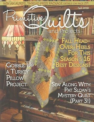 """{PRIMITIVE QUILTS and PROJECTS MAGAZINE} ~ """"FALL ISSUE 2018"""""""
