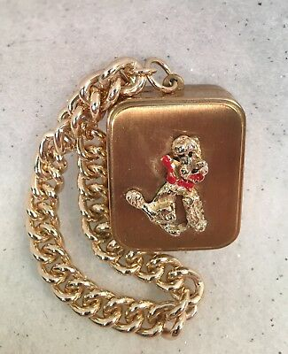 Vintage LADOR Mini Music Box Bracelet Poodle Dog Germany