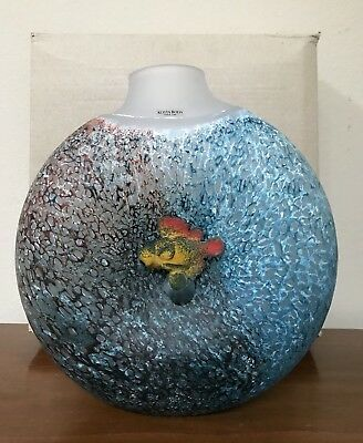 Kosta Boda Orchid Vase 115 New Out Of Box 22500 Picclick