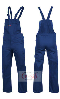 Blue or Black Bib and Brace Overalls Decorators Painters Coverall Dungarees DIY