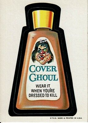 1973 Wacky Packages 1st Series COVER GHOUL