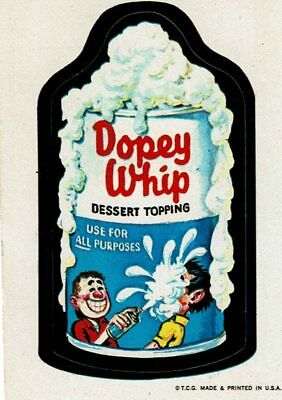 1973 Wacky Packages 1st Series DOPEY WHIP CREAM