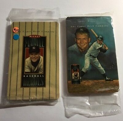 (2) 1993 Mickey Mantle Upper Deck Phone Card Sets
