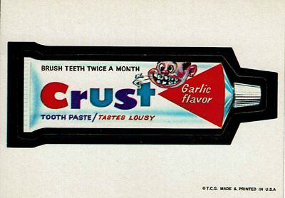 1973 Wacky Packages 1st Series CRUST Tooth Paste