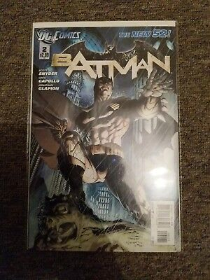 Batman New 52 #2 Variant Cover Jim Lee DC Comics Snyder Capullo Mint