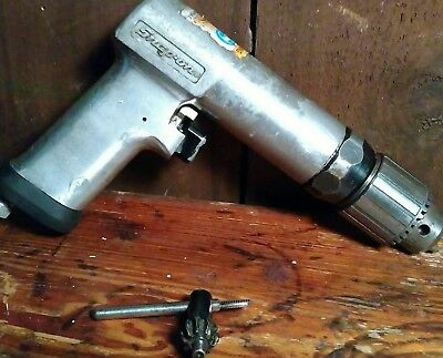 """SNAP ON Heavy Duty Reversible Air Drill with 1/2"""" Keyed Chuck NICE - PDR5A"""
