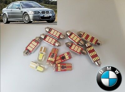 BMW E46 M3 3 series LED canbus no error Interior Kit bulbs *Warranty + Tool*
