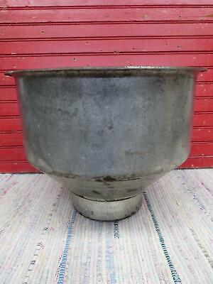 Vintage unusual Galvanized Steel milk Cream Separator Funnel Top