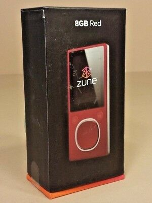 New Microsoft Zune 8Gb Red In-Box (As09)
