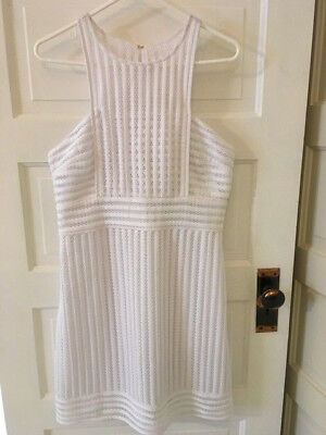 fc1d5fb5cebb26 NWT Lilly Pulitzer Rae Shift Crochet Knit Dress Size Large in Resort White