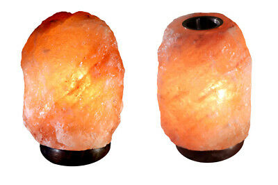 Bioexcel Himalayan Salt Lamp Pink Sea Crystal Night Light Home Decore 4Bulbs 2pc