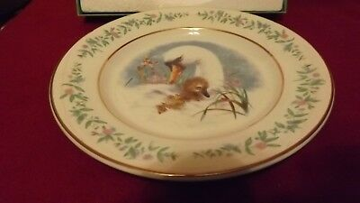 Avon Vintage 1975 gentle moments plate ducks /gold trim w/ original box