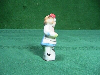 Vintage Ceramic Miniature Figurine w/ girl and duck Japan