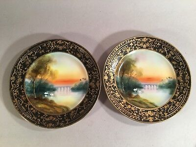 Vintage Hand Painted Nippon Porcelain Plates