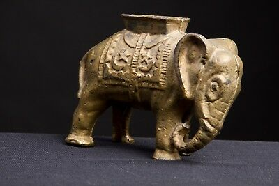 "Small Cast Iron Elephant Still Bank - 3""H x 4""L - A.C. Williams?"