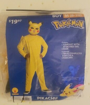 Boys Pikachu Pokemon Halloween costume NWT size medium 8-10