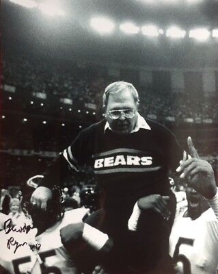 Buddy Ryan Chicago Bears Super Bowl Xx Autographed Signed 8X10 Eagles #3