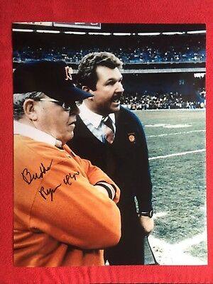Buddy Ryan Chicago Bears Super Bowl Xx Autographed Signed 8X10 With Ditka