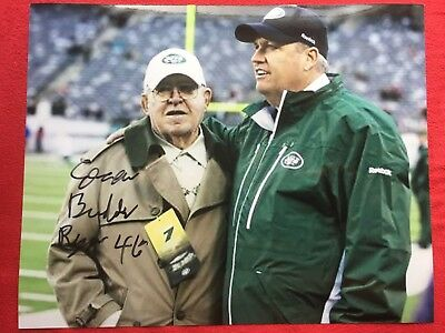 Buddy Ryan Chicago Bears Super Bowl Xx Autographed Signed 8X10 With Rex Ryan