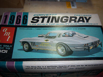 AMT 1966 Corvette Stingray model box and lid only.