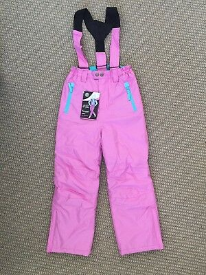 Be Fit Be You Girls Size 7 pink ski /snowboarding pants with straps