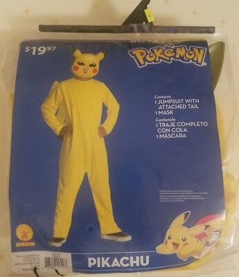 Pokemon PIKACHU Costume boys size 10-12 Large Halloween kids NWT free shipping!!