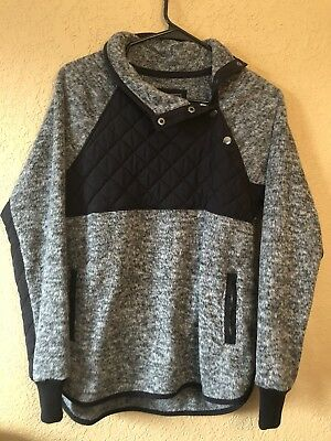 Abercrombie Fitch Quilted Pull Over Womens Size Small